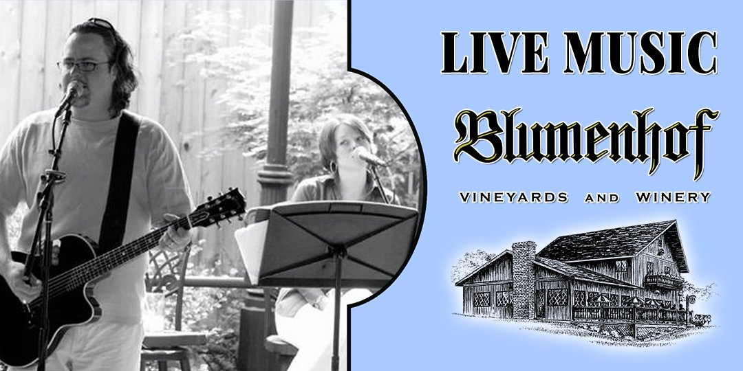 Michael Schaerer with Amy Miller at Blumenhof Winery