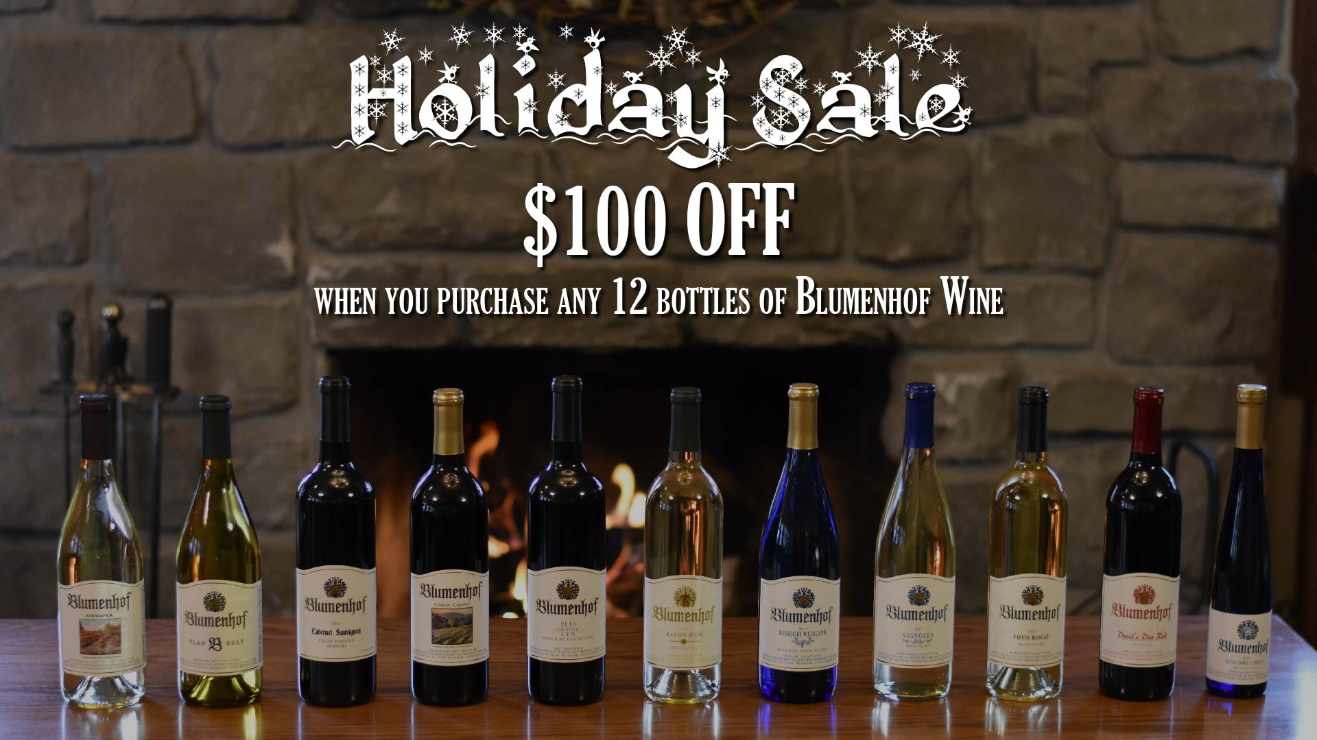 Blumenhof Winery's 2018 Holiday Sale