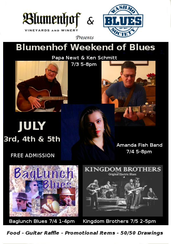 Weekend of Blues at Blumenhof Winery