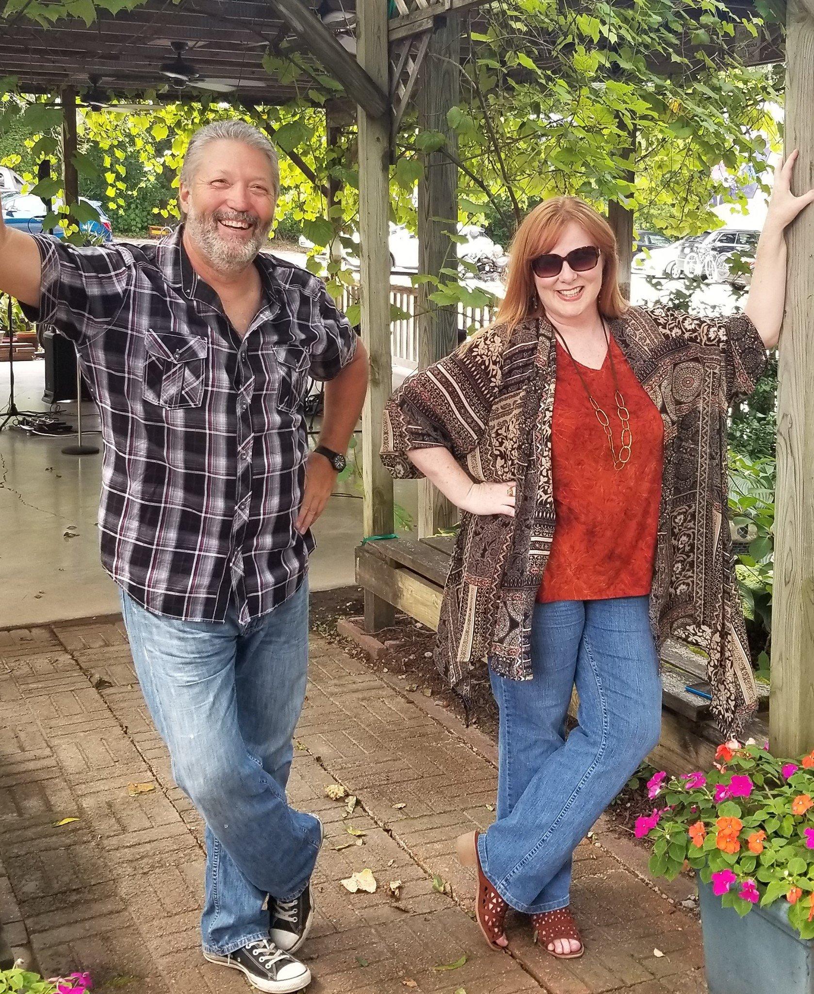 Pam and Jeff at Blumenhof Winery